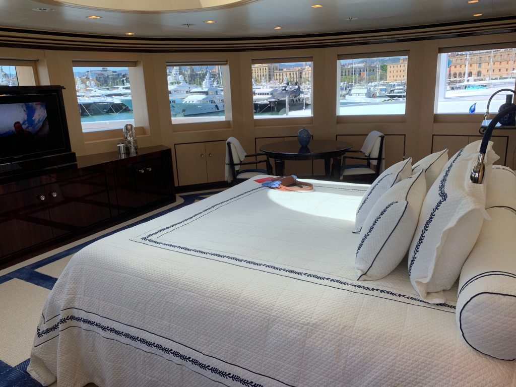 Image of superyacht master cabin